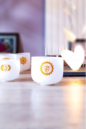 Coffret Bhakti Chakras  · 432 Hz · 8 bols de cristal