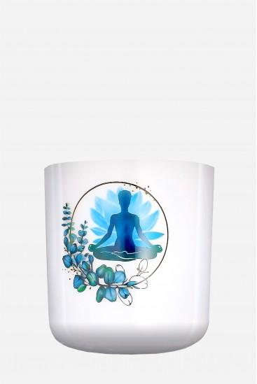 Yoga Zen - Bol de cristal - peint