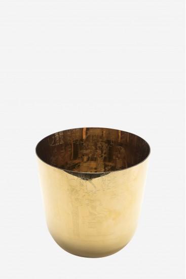 vaisseau de cristal avec or