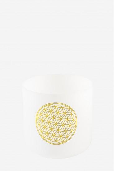 bol de cristal - clair de givre - Cristal Vibrasons