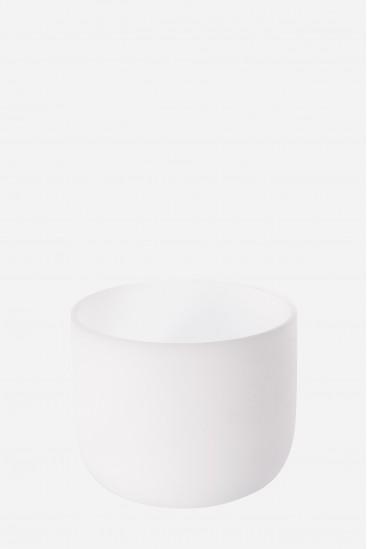 Bol de cristal blanc givré sablé - Cristal Vibrasons