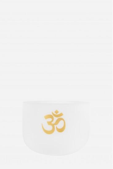 bol de cristal - OM peint couleur or - Cristal Vibrasons