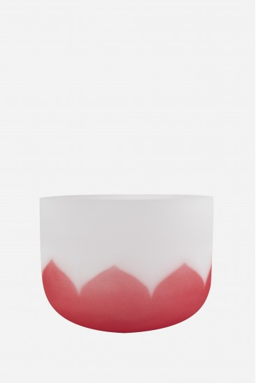 bol de cristal - lotus rouge - Cristal Vibrasons