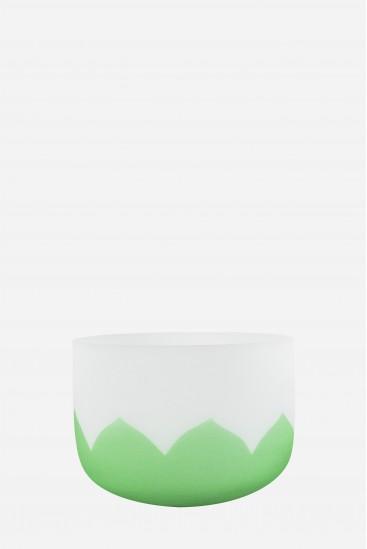bol de cristal - lotus vert - Cristal Vibrasons