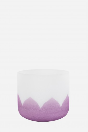 bol de cristal - lotus violet - Cristal Vibrasons