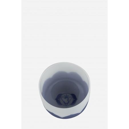 bol de cristal - lotus bleu indigo - Cristal Vibrasons