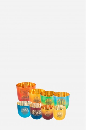chakras set - bols de cristal