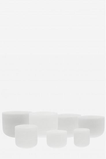 7 bols de cristal blancs / 7 chakras majeurs