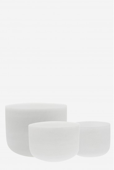 Equilibrium set 432 Hz - set of 3 white crystal bowls