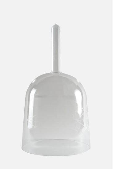 LUNA - engraved clear handle bowl -