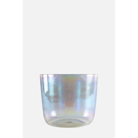 BOUDDHA BOWL - iridescent - engraved - Crystal singing bowl