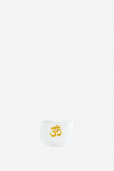 Dharma OM - 432 Hz - White Frosted Singing Bowl