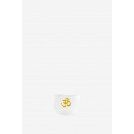 Le Dharma OM - 432 Hz - Bol Chantant Givré Blanc