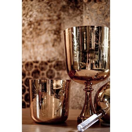 bol de cristal clair avec or
