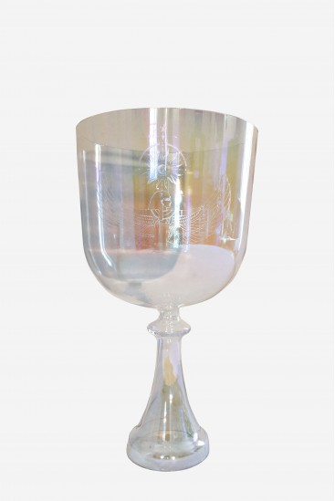 ISIS NETJERETH - iridescent - engraved - Crystal grail